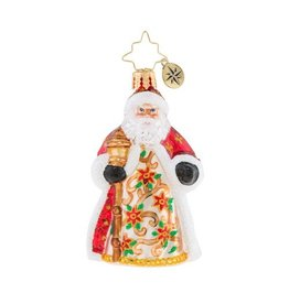 Christopher Radko Christmas Ornament Little Gem Poinsettia Passion