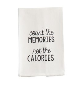 Mud Pie Hand Towel w Count The Memories Not The Calories