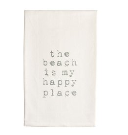 Mud Pie Beach House Hand Towel w The Beach Is My Happy Place