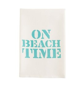 Mud Pie Beach House Hand Towel w On Beach Time