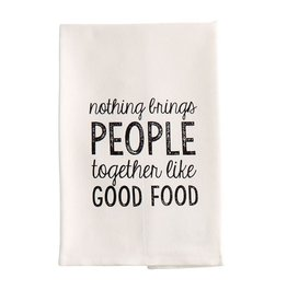 Mud Pie Hand Towel w Nothing Brings People Together Like Good Food