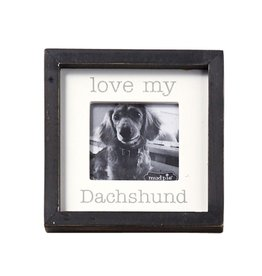 Mud Pie Love My Daschund Dog Breed Small Photo Plaque Pet Gift 5x5in