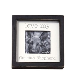 Mud Pie Love My German Shepard Dog Breed Small Photo Plaque Pet Gift 5x5in