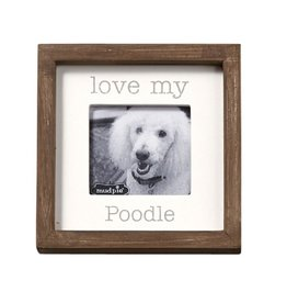 Mud Pie Love My Poodle Dog Breed Small Photo Plaque Pet Gift 5x5in