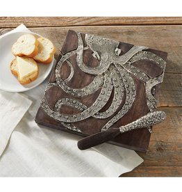 Mud Pie Octopus Bar - Cheese Board Set w Spreader