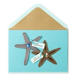 Papyrus Greetings Wedding Card Starfish Scene