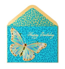 Papyrus Greetings Birthday Card Animal Print Butterfly