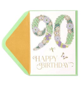 Papyrus Greetings Birthday Card 90th Birthday Laser Cut by Papyrus