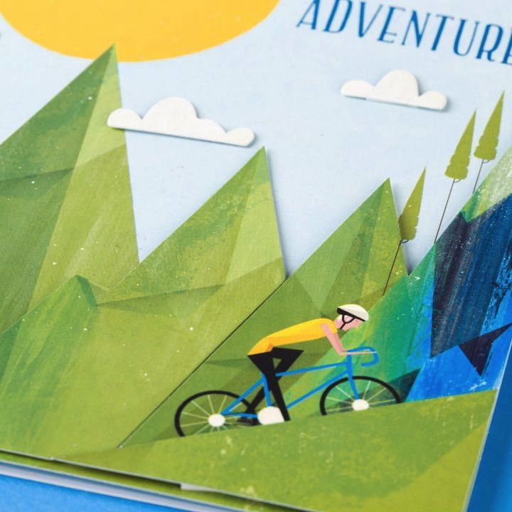 papyrus greetings birthday card mountain biking adventure digs n gifts