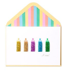 Papyrus Greetings New Baby Card Baby Bottles A Toast