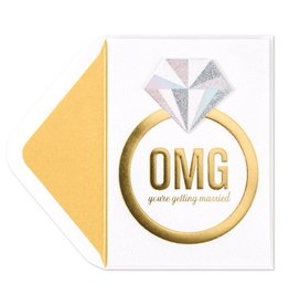 Papyrus Greetings Engagement Card OMG Ring