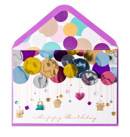 Papyrus Greetings Birthday Card Layers of Balloons