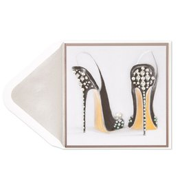 Papyrus Greetings Birthday Card Painterly Pearl Shoe