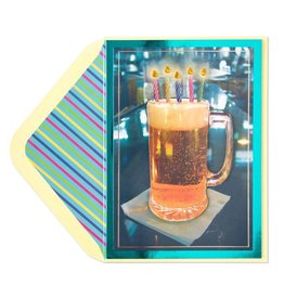 Papyrus Greetings Birthday Card Beer With Candles