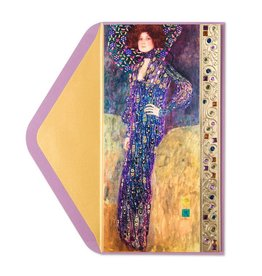 Papyrus Greetings Birthday Card Klimt Woman in Blue
