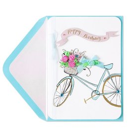 Papyrus Greetings Birthday Card Happy Birthday Floral Bike