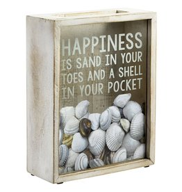Mud Pie Happiness Sea Shells Box Collection Display Box