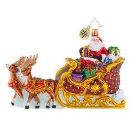 Christopher Radko Christmas Ornament Stellar Ride Santa