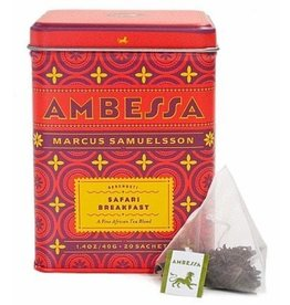 Harney & Sons Tea Ambessa Safari Breakfast Tea Blend Tin w 20 Saches