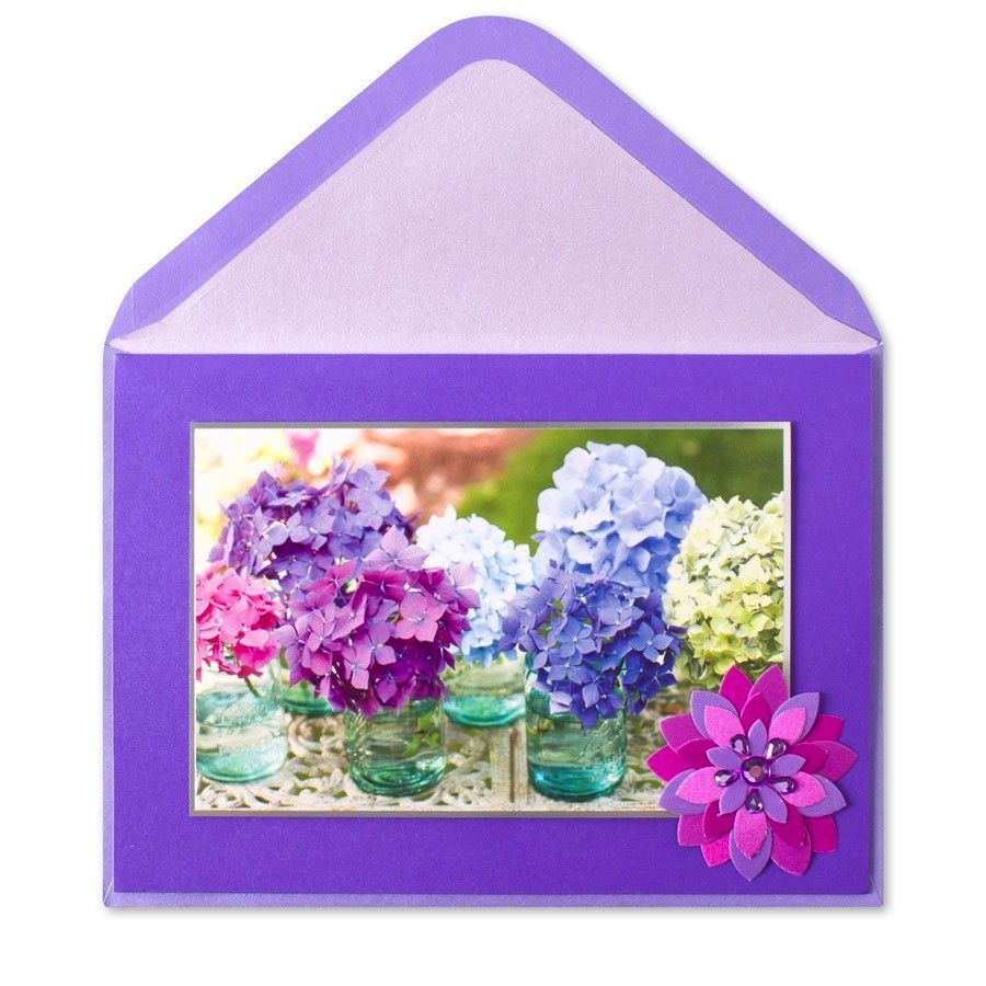 Papyrus Greetings Mothers Day Card Hydrangeas In Jars Digs N Gifts