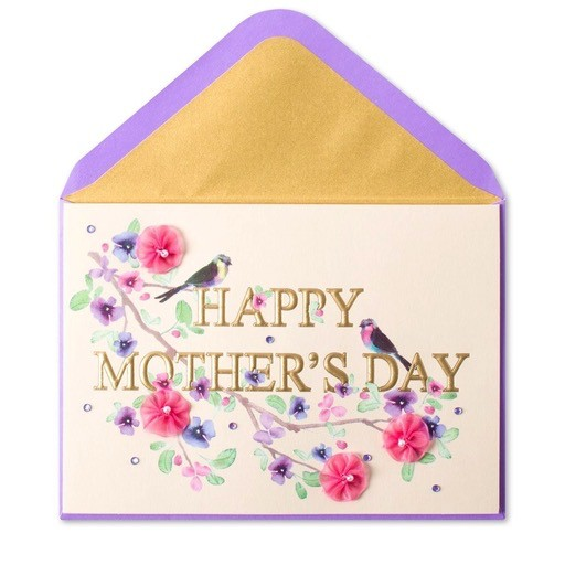 Papyrus greetings mothers day card elegant letters birds for Classy mothers day cards