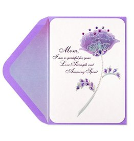Papyrus Greetings Mothers Day Card Amazing Spirit Gem Velum Layers Flower