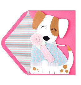 Papyrus Greetings Mothers Day Card Dog With Flower For You Mom