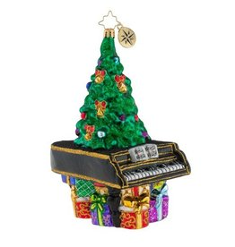 Christopher Radko Ornament Treetop Concerto Piano w Tree and Presents