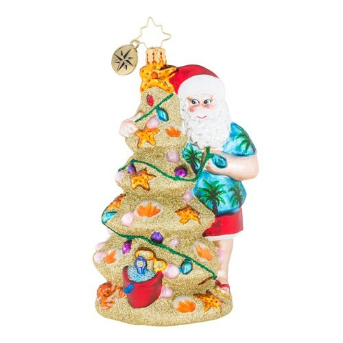 christopher radko christmas ornament christmas in the sand