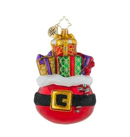 Christopher Radko Christmas Ornament Buckle Up for the Holidays