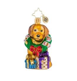 Christopher Radko Christmas Ornament Little Gem The Retriever Gets It