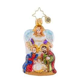 Christopher Radko Christmas Ornament Little Gem Angel We Have Heard Holy Family