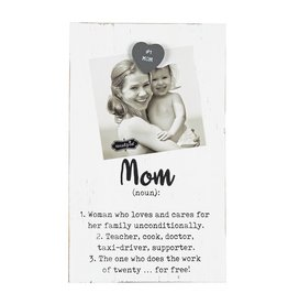 Mud Pie Magnetic White Washed Parent Definition Frame - MOM
