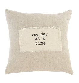 Mud Pie Positive Sentiment Pocket Pillow 9x9 w One Day At A Time