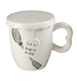 Mud Pie Covered Tea Mug w Spoon Set - Hug in a Cup - Brew-Tea-Ful