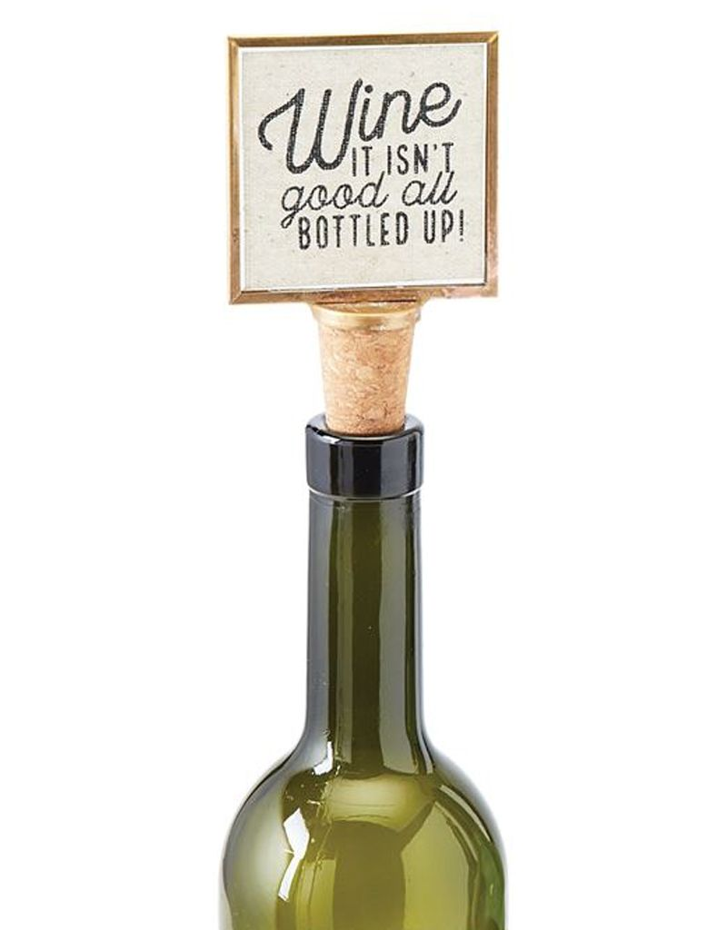 Mud pie cork wine stopper w the bar is always open digs for Wine cork bar top