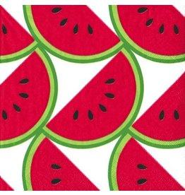 Caspari Paper Napkins Watermelon Slice Lunch Napkins