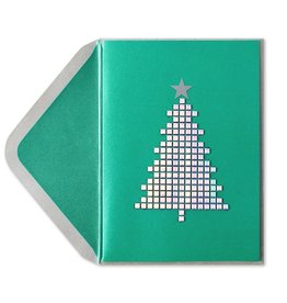 Papyrus Greetings Christmas Card Holographic Stud Tree by Papyrus