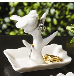 Twos Company Porcelain Bird Jewelry Holder 50233-20-A Bird on Branch