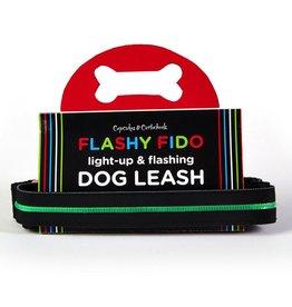 Twos Company Flashy Fido LED LIght Up Dog Leash 5FT Green