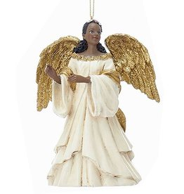 Kurt Adler African American Black Angel Ornament -A