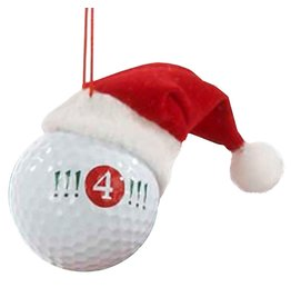 Kurt Adler Ornament Golf Ball w Santa Hat !!! 4 !!!