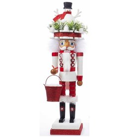 Kurt Adler Hollywood Christmas Nutcracker 18 Inch w Snowman Hat