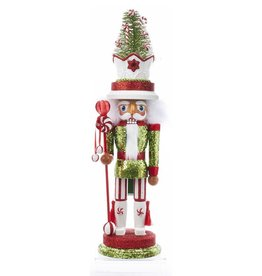 Kurt Adler Hollywood Christmas Nutcracker 18 Inch w Candy Tree Hat