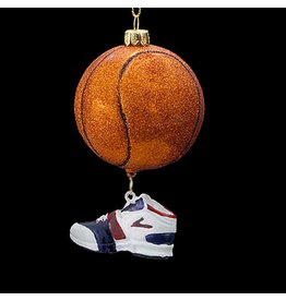 Kurt Adler Christmas Ornament Nobel Gems Glass Basketball w Shoe