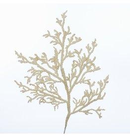 Kurt Adler Sand Coral Pick 25 inch Coastal Christmas Floral
