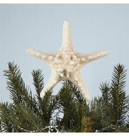 Twos Company Glitter Starfish Christmas Tree Topper 6 inch Diameter