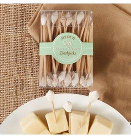 Twos Company Seashell Hors D Oeuvre Toothpicks 72pk Nassa Shell 3549-20-A by Twos Company