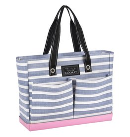 Scout Bags Uptown Girl Tote Bag Zip w Pockets 14760 Oxford Blues