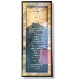 Portal Small Decorative Shadowbox Sign w Saying - Prayer of Jabez